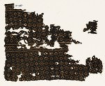 Two textile fragments with rosettes, lobed squares, and dots (EA1990.81)