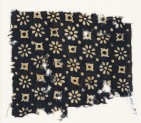Textile fragment with rosettes, dots, and lobed squares (EA1990.87)