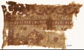 Textile fragment with medallions and arches