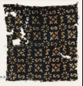 Textile fragment with S-shapes, rosettes, and quatrefoils (EA1990.9)