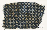 Textile fragment with rosettes, dots, and lobed squares