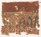 Textile fragment with arches and stylized plants (EA1990.916)