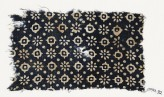 Textile fragment with rosettes, dots, and lobed squares (EA1990.92)