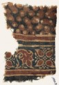 Textile fragment with leaves and dots (EA1990.923)