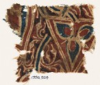Textile fragment with stylized flower (EA1990.924)