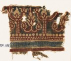 Textile fragment with stylized trees and flowers (EA1990.935)