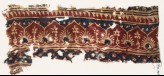 Textile fragment with arches, palmettes, and flowers (EA1990.943)