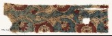 Textile fragment with interlacing tendrils and flower-heads (EA1990.944)