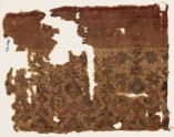 Textile fragment possibly imitating patola pattern, with stylized plants (EA1990.952)