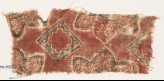 Textile fragment with squares and flowers (EA1990.953)