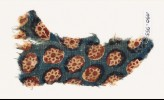 Textile fragment with rosettes in circles (EA1990.955)
