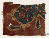 Textile fragment with floral ornaments, flowers, and tendrils (EA1990.956)