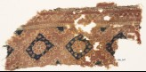 Textile fragment with ornate rosettes and squares (EA1990.965)