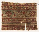 Textile fragment with leaves and quatrefoils (EA1990.971)