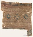 Textile fragment with circles and quatrefoils (EA1990.974)