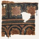 Textile fragment with star-shaped flowers (EA1990.980)