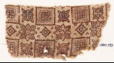 Textile fragment with squares, flowers, quatrefoils, and diamond-shapes (EA1990.993)