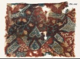 Textile fragment with tendrils, hearts, and tab-shapes (EA1990.1005)