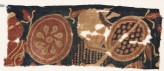 Textile fragment with two warriors