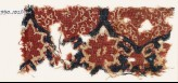 Textile fragment with medallions, tendrils, and vine leaves (EA1990.1020)