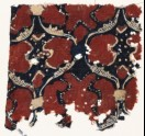 Textile fragment with linked oval medallions (EA1990.1023)