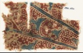 Textile fragment with overlapping petals (EA1990.1032)