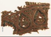 Textile fragment with tear-drops and leaves (EA1990.1037)
