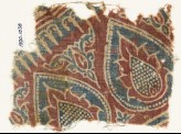 Textile fragment with tear-drops and leaves (EA1990.1038)