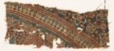 Textile fragment with arches and stylized trees (EA1990.1048)