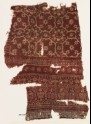 Textile fragment with medallions, flowers, and hearts (EA1990.1055)