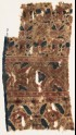 Textile fragment with deer, flowers, and hearts (EA1990.1095)
