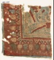 Textile fragment with parrots and palmettes (EA1990.1096)