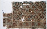 Textile fragment with linked circles and rosettes (EA1990.1099)