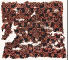 Textile fragment with linked octagons and quatrefoils (EA1990.1153)