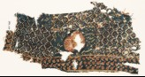 Textile fragment with rose and grid of medallions and rosettes (EA1990.1164)