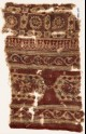 Textile fragment with elongated hexagons, vines, and linked squares (EA1990.1167)