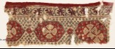 Textile fragment with linked medallions and flowers (EA1990.1169)