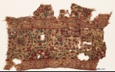 Textile fragment with Persian-inspired script and interlace