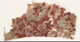Textile fragment with baskets of flowers