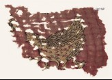 Textile fragment with hen and chicks (EA1990.1183)