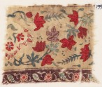 Textile fragment with naturalistic flowers (EA1990.1186)