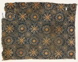 Textile fragment with dotted octagons, stars, and quatrefoils (EA1990.1195)