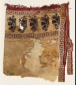 Textile fragment with flowers and vines, possibly from a pillow or sash (EA1990.1197)