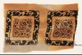 Textile fragment with square frames and scrolls