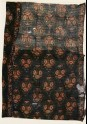 Textile fragment with bunches of flowers