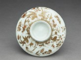 Lid with quails and flowers