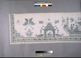 Valance with crows, lions, phoenixes, and dragon boats
