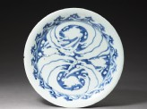 Plate with rabbits and waves