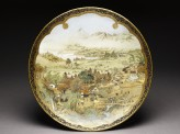Kyo-Satsuma dish with landscape using westernized perspective (EA1992.71)