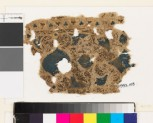 Textile fragment with swirling vegetal pattern and trefoil shapes (EA1993.105)